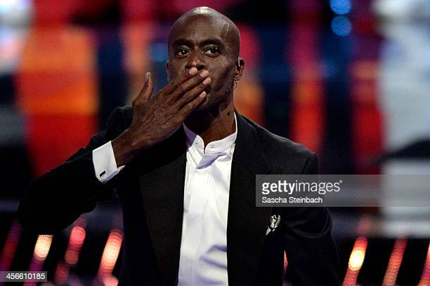Jury member Bruce Darnell reacts during the finals of 'Das Supertalent' at Coloneum on December 14 2013 in Cologne Germany