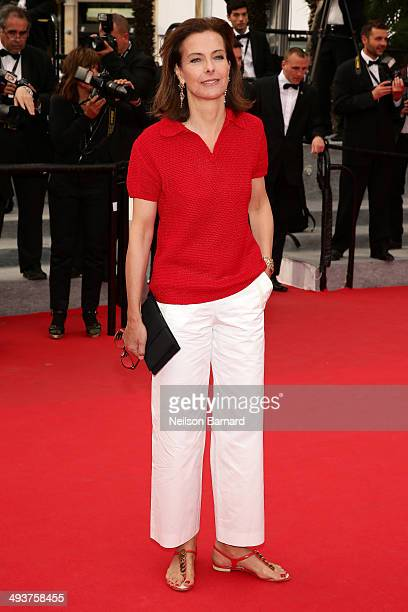 Jury member Carole Bouquet attends the red carpet for the Palme D'Or winners at the 67th Annual Cannes Film Festival on May 25 2014 in Cannes France