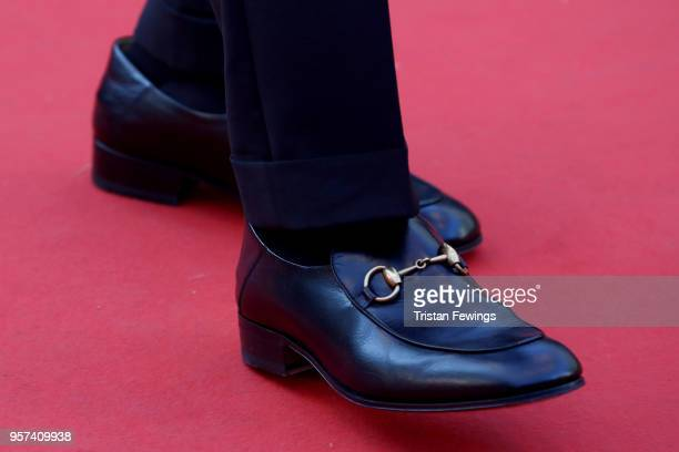 Jury member Chang Chen shoe detail attends the screening of Ash Is The Purest White during the 71st annual Cannes Film Festival at Palais des...
