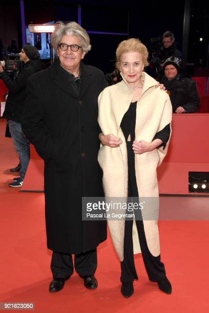 Jury member Chema Prado and Marisa Paredes attend the Hommage Willem Dafoe Honorary Golden Bear award ceremony and 'The Hunter' screening during the...