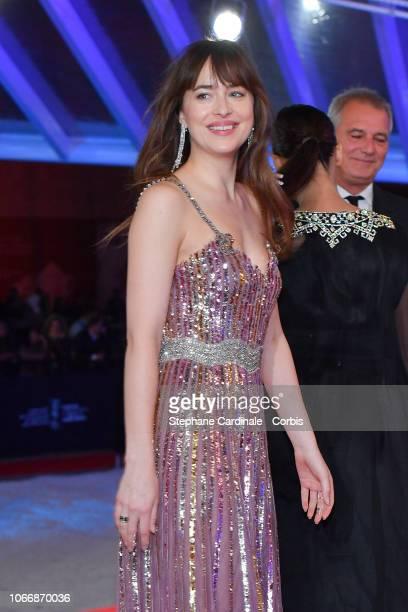 Jury Member Dakota Johnson attends the Opening Ceremony of the 17th Marrakech International Film Festival on November 30 2018 in Marrakech Morocco