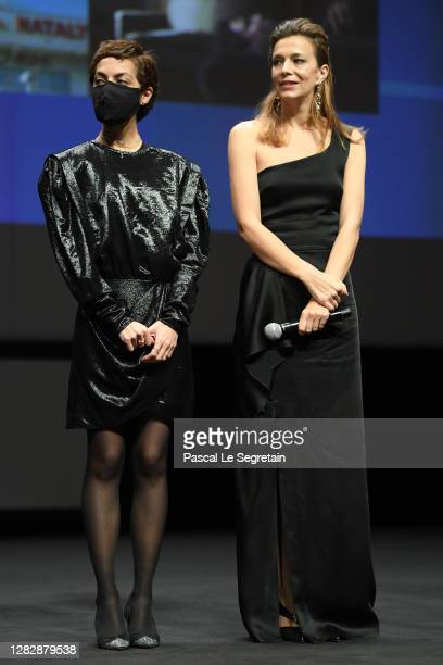 "Jury member Dea Kulumbegashvili and Celine Sallette attend the Best Short Film Palme D'Or Award Ceremony of the ""Special Cannes 2020 : Le Festival..."