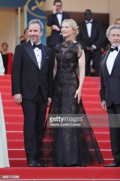 Jury member Denis Villeneuve and jury president Cate Blanchett attend the screening of Everybody Knows and the opening gala during the 71st annual...