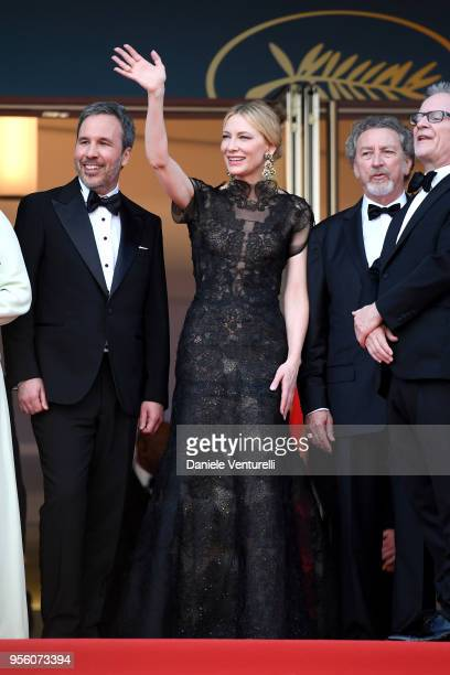 Jury member Denis Villeneuve Jury president Cate Blanchett jury member Robert Guediguian and Cannes Film Festival Director Thierry Fremaux attend the...