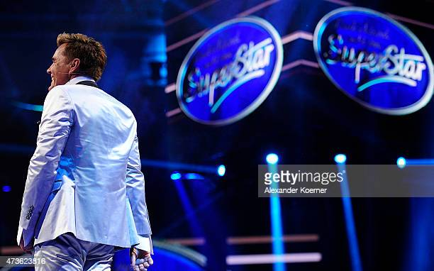 Jury member Dieter Bohlen is seen during the live finals of the television show 'Deutschland sucht den Superstar' on May 16 2015 in Bremen Germany