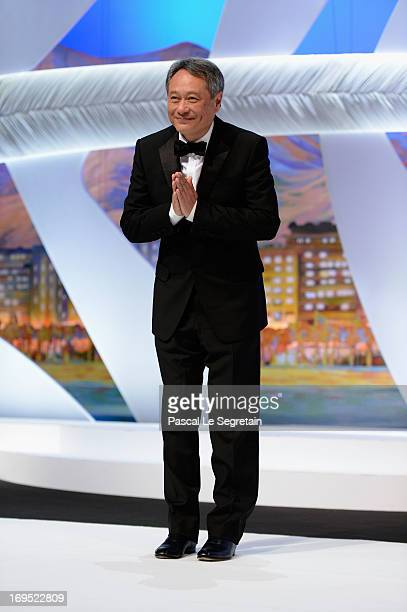 Jury member director Ang Lee stands on stage during the Closing Ceremony of the 66th Annual Cannes Film Festival at the Palais des Festivals on May...