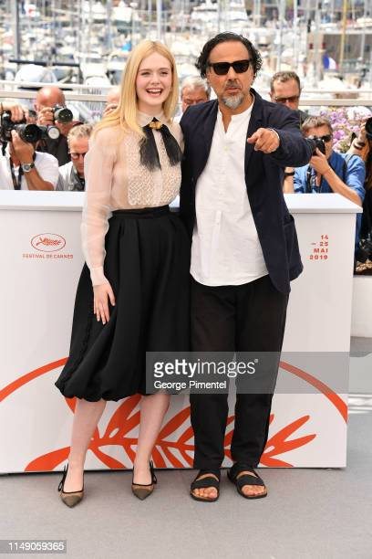 Jury Member Elle Fanning and President of the Main competition jury Alejandro Gonzalez Inarritu attend the Jury photocall during the 72nd annual...
