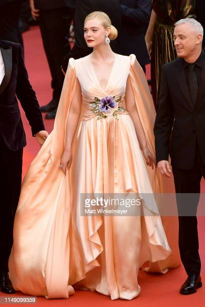 """Jury member Elle Fanning, wearing Chopard jewels, attends the opening ceremony and screening of """"The Dead Don't Die"""" during the 72nd annual Cannes..."""