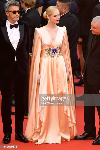 Jury member Elle Fanning wearing Chopard jewels attends the opening ceremony and screening of The Dead Don't Die during the 72nd annual Cannes Film...