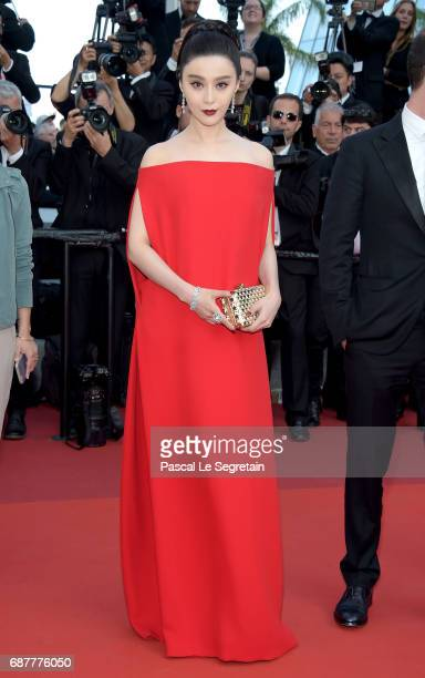 Jury member Fan Bingbing attends the 'The Beguiled' screening during the 70th annual Cannes Film Festival at Palais des Festivals on May 24 2017 in...
