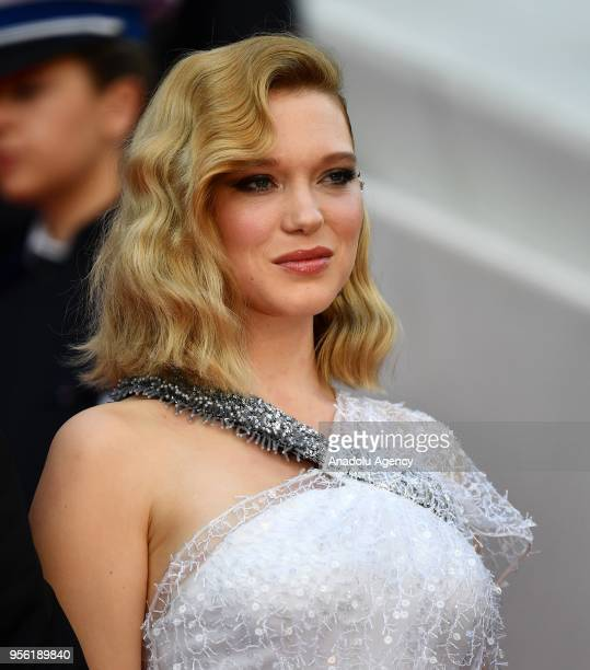 Jury member French actress Lea Seydoux arrives for the screening of the film 'Everybody Knows' and the Opening Ceremony of the 71st Cannes Film...