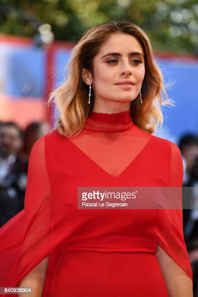 Jury member Greta Scarano walks the red carpet ahead of the 'Downsizing' screening and Opening Ceremony during the 74th Venice Film Festival at Sala...