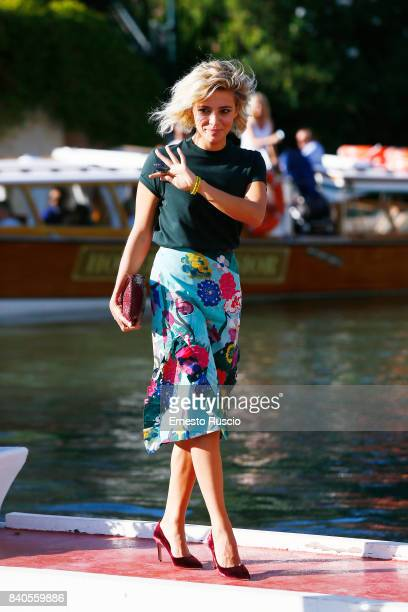 Jury member Jasmine Trinca arrives at the 74th Venice Film Festival on August 29 2017 in Venice Italy