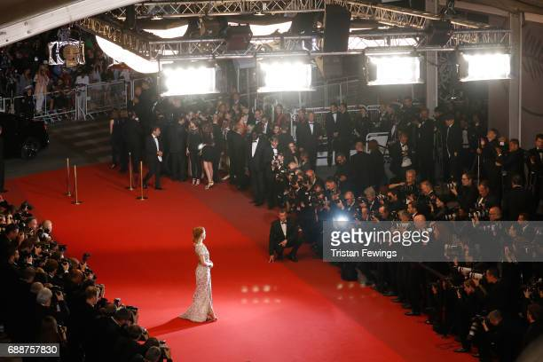 Jury member Jessica Chastain attends the 'In The Fade ' screening during the 70th annual Cannes Film Festival at Palais des Festivals on May 26 2017...