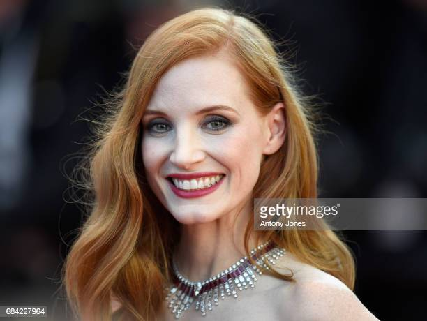 Jury member Jessica Chastain attends the Ismael's Ghosts screening and Opening Gala during the 70th annual Cannes Film Festival at Palais des...