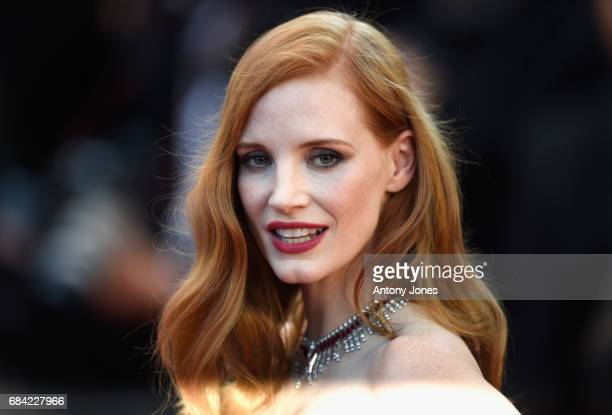 """Jury member Jessica Chastain attends the """"Ismael's Ghosts """" screening and Opening Gala during the 70th annual Cannes Film Festival at Palais des..."""