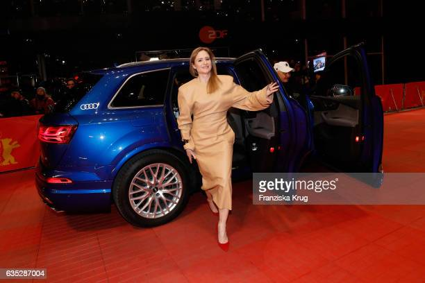 Jury member Julia Jentsch arrives at the 'Beuys' premiere during the 67th Berlinale International Film Festival Berlin at Berlinale Palace on...