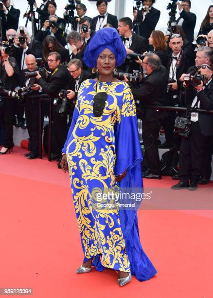 Jury member Khadja Nin attends the screening of Burning during the 71st annual Cannes Film Festival at Palais des Festivals on May 16 2018 in Cannes...