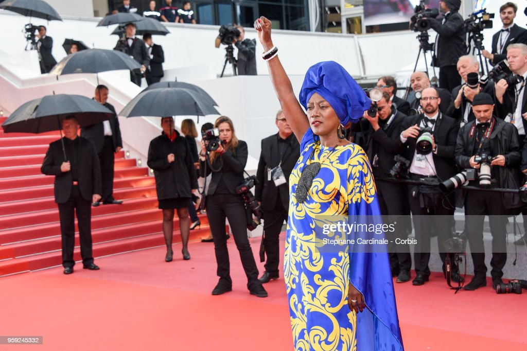 Jury member Khadja Nin attends the screening of 'Burning' during the 71st annual Cannes Film Festival at Palais des Festivals on May 16, 2018 in Cannes, France.