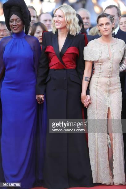 Jury member Khadja Nin Jury president Cate Blanchett and jury member Kristen Stewart and attend the Closing Ceremony screening of 'The Man Who Killed...