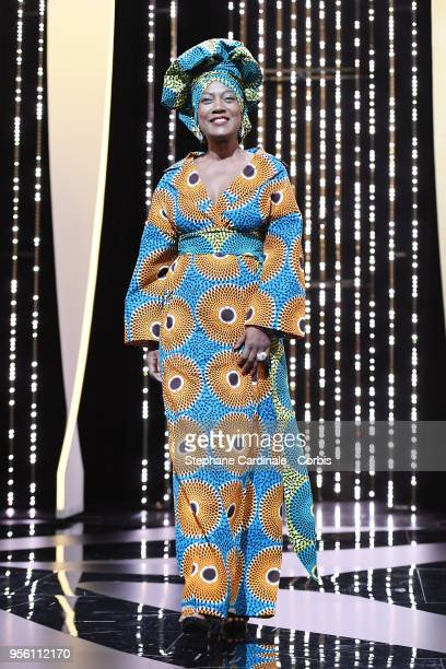 Jury member Khadja Nin walks onstage at the Jury opening ceremony during the 71st annual Cannes Film Festival at Palais des Festivals on May 8 2018...