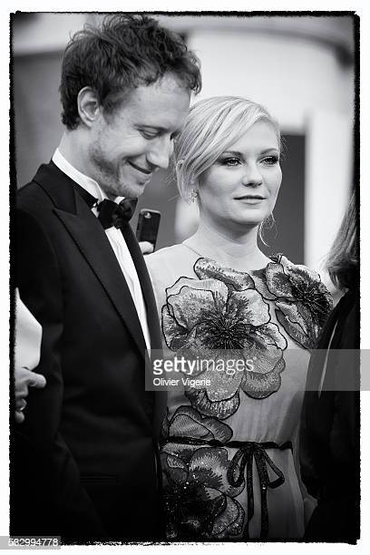 Jury Member Kirsten Dunst and LÃszló Nemes attend the 'Cafe Society' premiere during the 69th annual Cannes Film Festival on may 12th 2016 in Cannes