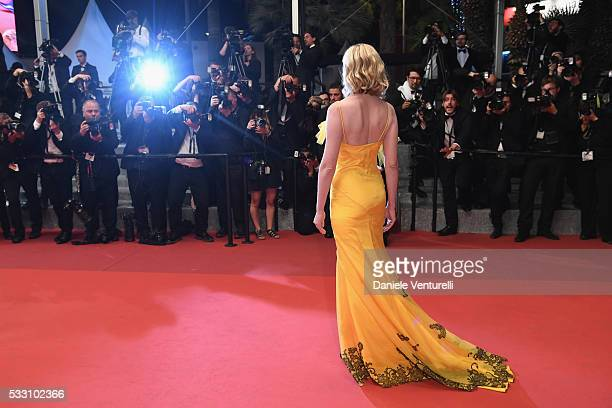 """Jury member Kirsten Dunst attends """"The Neon Demon"""" Premiere during the 69th annual Cannes Film Festival at the Palais des Festivals on May 20, 2016..."""