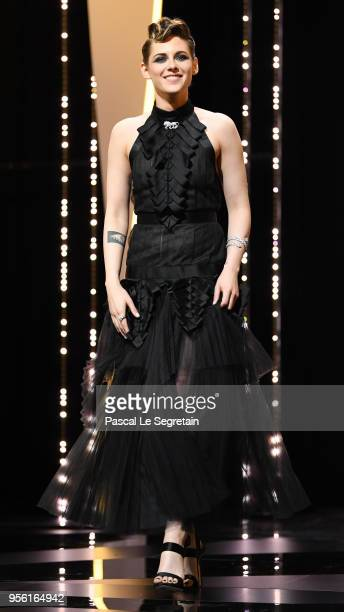 Jury member Kristen Stewart attends the Opening Ceremony during the 71st annual Cannes Film Festival at Palais des Festivals on May 8 2018 in Cannes...