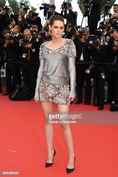 Jury member Kristen Stewart attends the screening of BlacKkKlansman during the 71st annual Cannes Film Festival at Palais des Festivals on May 14...