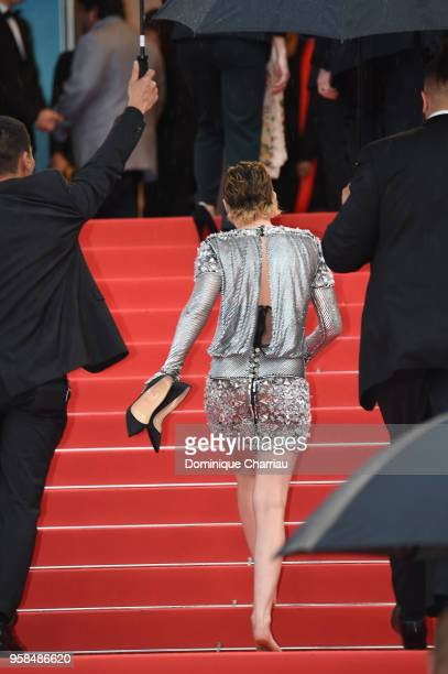 """Jury member Kristen Stewart attends the screening of """"BlacKkKlansman"""" during the 71st annual Cannes Film Festival at Palais des Festivals on May 14,..."""