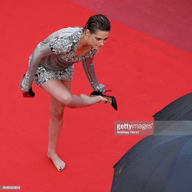 Jury member Kristen Stewart attends the screening of 'BlacKkKlansman' during the 71st annual Cannes Film Festival at Palais des Festivals on May 14...