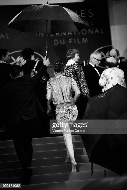 Image has been digitally retouched Jury member Kristen Stewart attends the screening of 'BlacKkKlansman' during the 71st annual Cannes Film Festival...