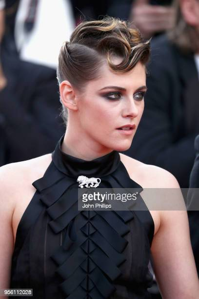"""Jury member Kristen Stewart attends the screening of """"Everybody Knows """" and the opening gala during the 71st annual Cannes Film Festival at Palais..."""