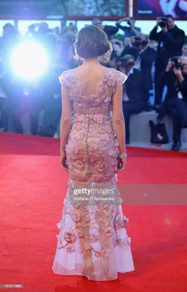 Jury member Laetitia Casta attends the Award Ceremony And 'L'Homme Qui Rit' Premiere during The 69th Venice Film Festival at the Palazzo del Cinema on September 8, 2012 in Venice, Italy.