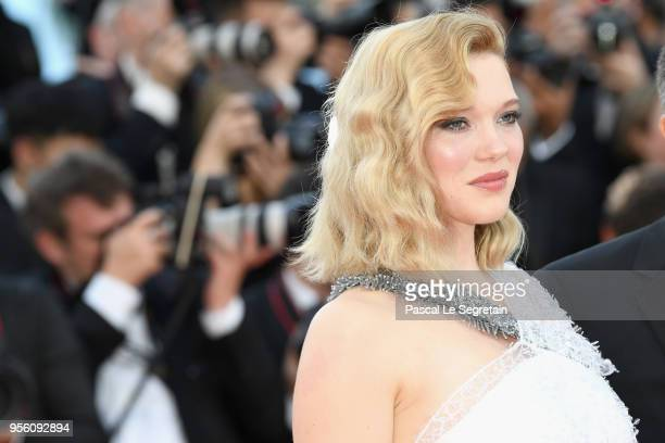 Jury member Lea Seydou earring detail attends the screening of Everybody Knows and the opening gala during the 71st annual Cannes Film Festival at...