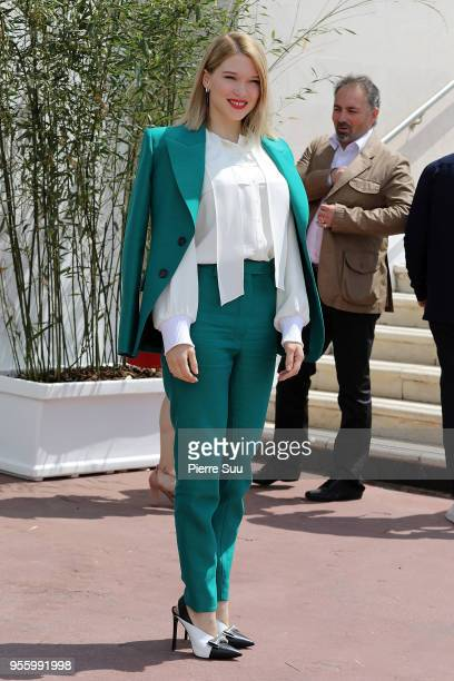 Jury member Lea Seydoux arrives at the jury photocall during the 71st annual Cannes Film Festival on May 8 2018 in Cannes France