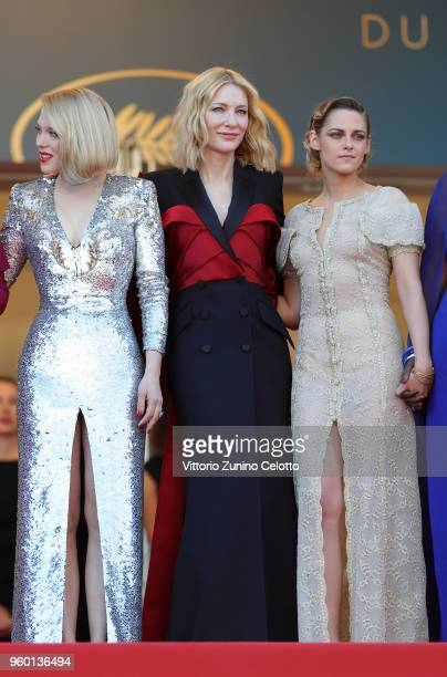 Jury member Lea Seydoux jury president Cate Blanchett and jury member Kristen Stewart attend the Closing Ceremony screening of 'The Man Who Killed...