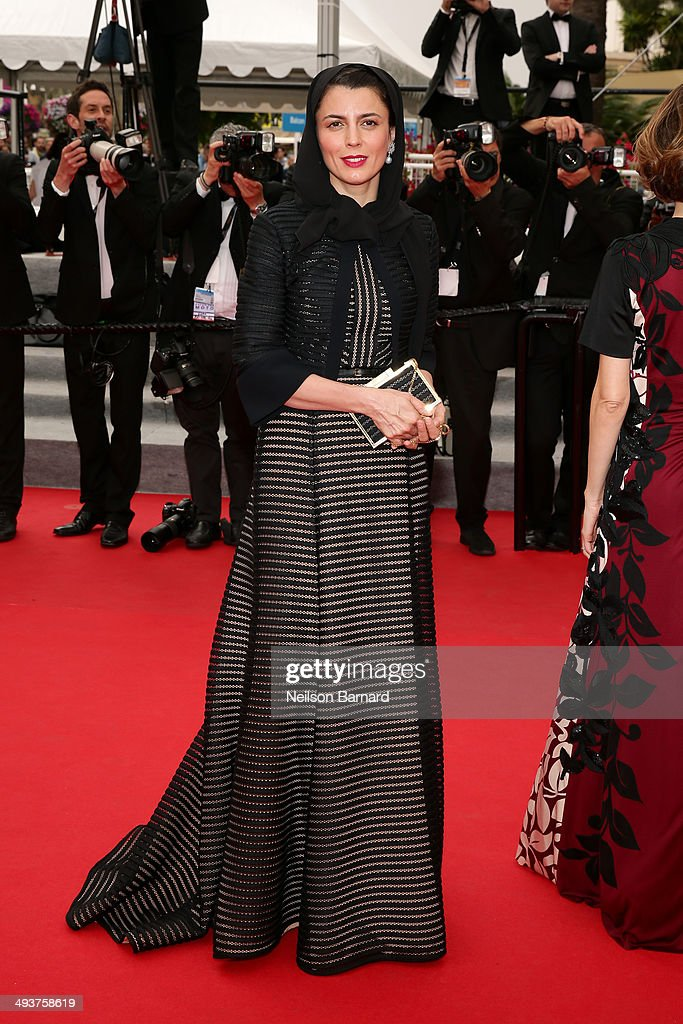 Jury member Leila Hatami attends the red carpet for the Palme D'Or winners at the 67th Annual Cannes Film Festival on May 25, 2014 in Cannes, France.