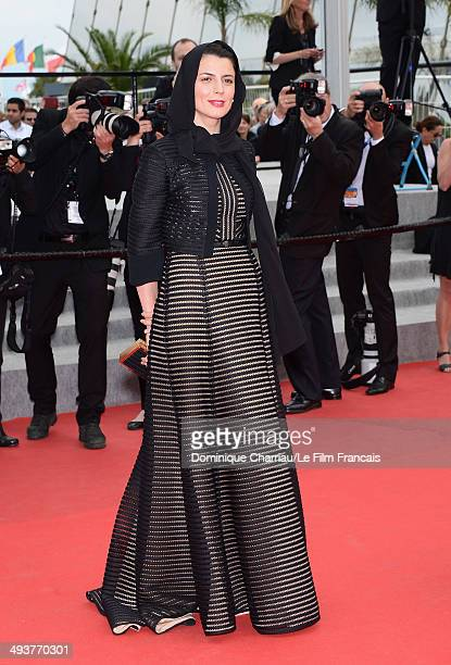 Jury Member Leila Hatami attends the red carpet for the Palme D'Or winners at the 67th Annual Cannes Film Festival on May 25 2014 in Cannes France