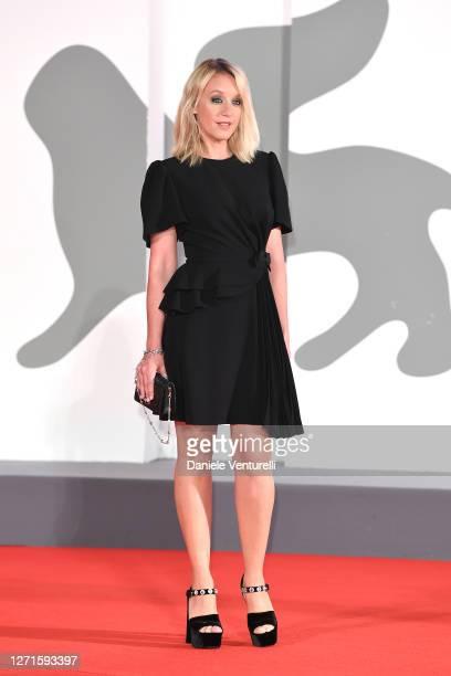 Jury Member Ludivine Sagnier walks the red carpet ahead of the movie Spy No Tsuma at the 77th Venice Film Festival on September 09 2020 in Venice...