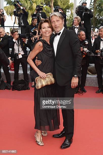 Jury member Mads Mikkelsen and Hanne Jacobsen attend The Unknown Girl Premiere during the 69th annual Cannes Film Festival at the Palais des...