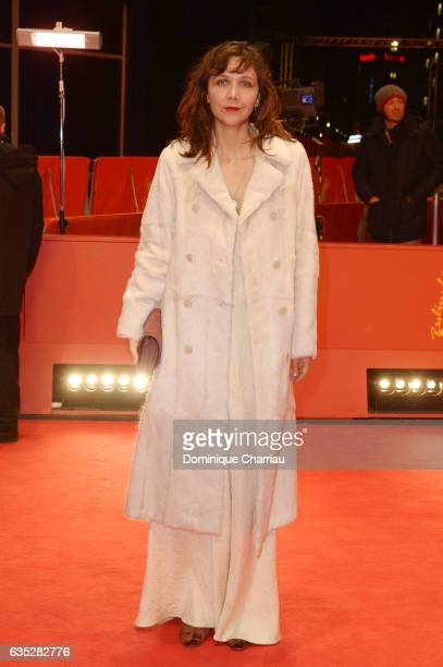 Jury member Maggie Gyllenhaal attends the 'Beuys' premiere during the 67th Berlinale International Film Festival Berlin at Berlinale Palace on...