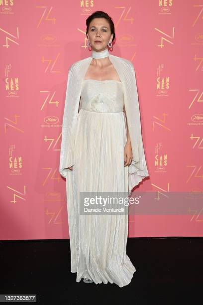 Jury member Maggie Gyllenhaal attends the opening ceremony gala dinner of the 74th annual Cannes Film Festival on July 06, 2021 in Cannes, France.
