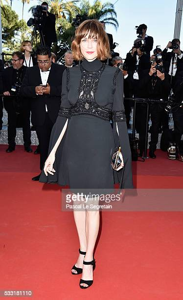 Jury member MarieJosee Croze attends the 'Elle' Premiere during the 69th annual Cannes Film Festival at the Palais des Festivals on May 21 2016 in...