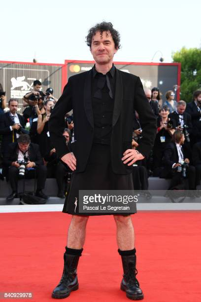 Jury member Mark Cousins walks the red carpet ahead of the 'Downsizing' screening and Opening Ceremony during the 74th Venice Film Festival at Sala...