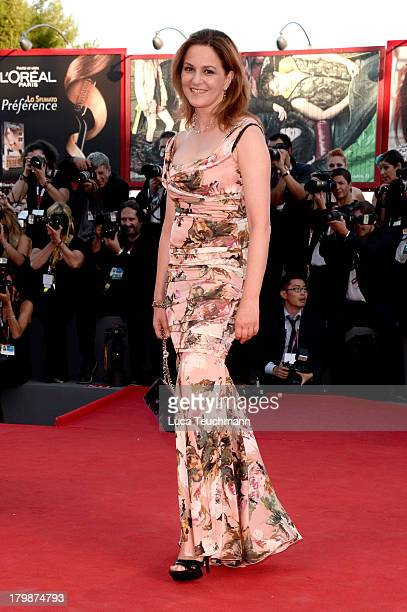Jury member Martina Gedeck arrives at the closing ceremony of the 70th Venice International Film Festival at Palazzo del Cinema on September 7 2013...