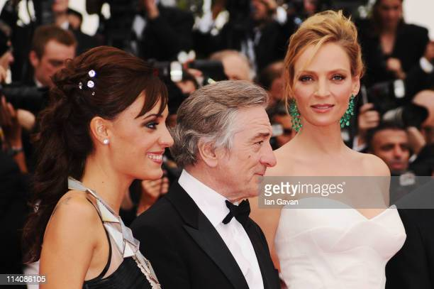 Jury Member Martina Gusman President Robert De Niro and Member Uma Thurman attend the Opening Ceremony at the Palais des Festivals during the 64th...