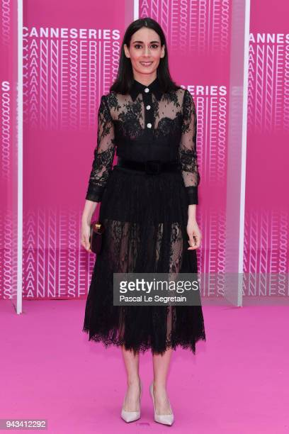 Jury Member Melisa Sozen attends Killing Eve and When Heroes Fly screening during the 1st Cannes International Series Festival at Palais des...