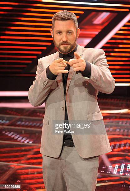 Jury member Mirko Bogojevic during the winners photocall at the 'The X Factor Live' TVShow on October 25 2011 in Cologne Germany
