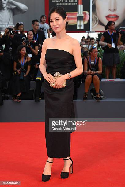 Jury member Moon So-ri attends the premiere of 'The Young Pope' during the 73rd Venice Film Festival at on September 3, 2016 in Venice, Italy.